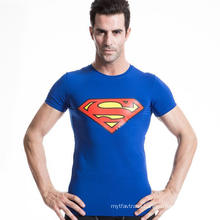 Men Fitness Tight Short-Sleeve T-Shirt Running Racing Yoga Wear
