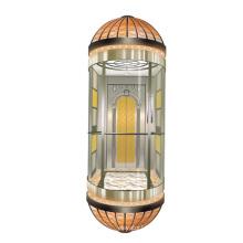 Elevador panorâmico seguro para uso público