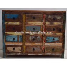 Recycled Wood Color Full Dresser Cabinet