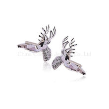 Animals Deer Shape Silver Cufflinks for Men to Marry