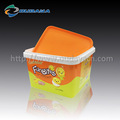 Customized printing IML plastic food container with handle