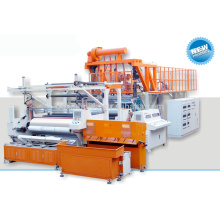 Automática de tres capas de 1500 mm co-extrusión pe película de plástico transparente película de estiramiento de la máquina