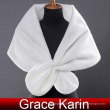 Grace Karin damas Falso piel elegante invierno blanco nupcial mantones y boda Wraps CL2614