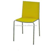 Cadeira de restaurante de metal, cadeira de jantar, tubo de aço