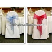 couverture de chaise 100 % polyester visa pour banquet
