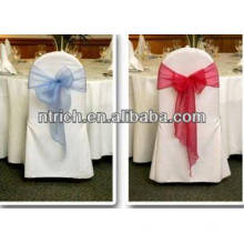 100% polyester visa chair cover for banquet