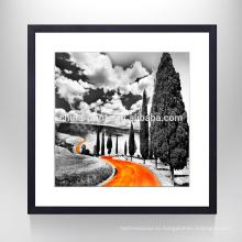 Оранжевая дорожная декорация Wall Art Print / Picture Frame Canvas Artwork / Home Decor Новые товары