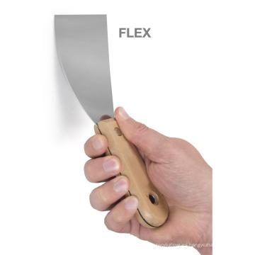 Sjsl41 Espejo de acero inoxidable Manija de madera pulida Scraper flexible barato
