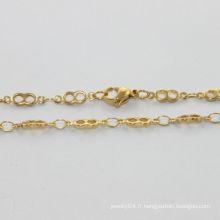 Collier gros gros, collier en acier inoxydable poli avec lettre 8, collier femme