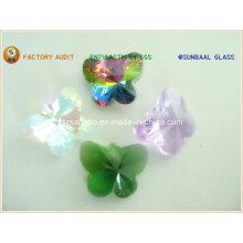 Mariposa de cristal para araña de luces/cadena/collar/mariposa