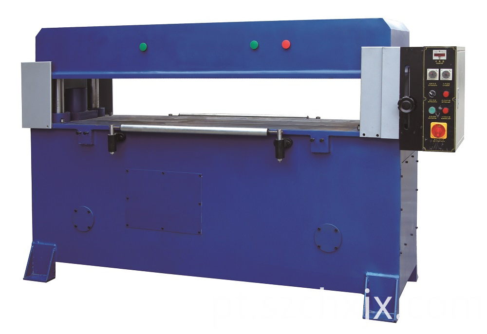 Auto-feeding hydraulic press cutting machine for clamshell