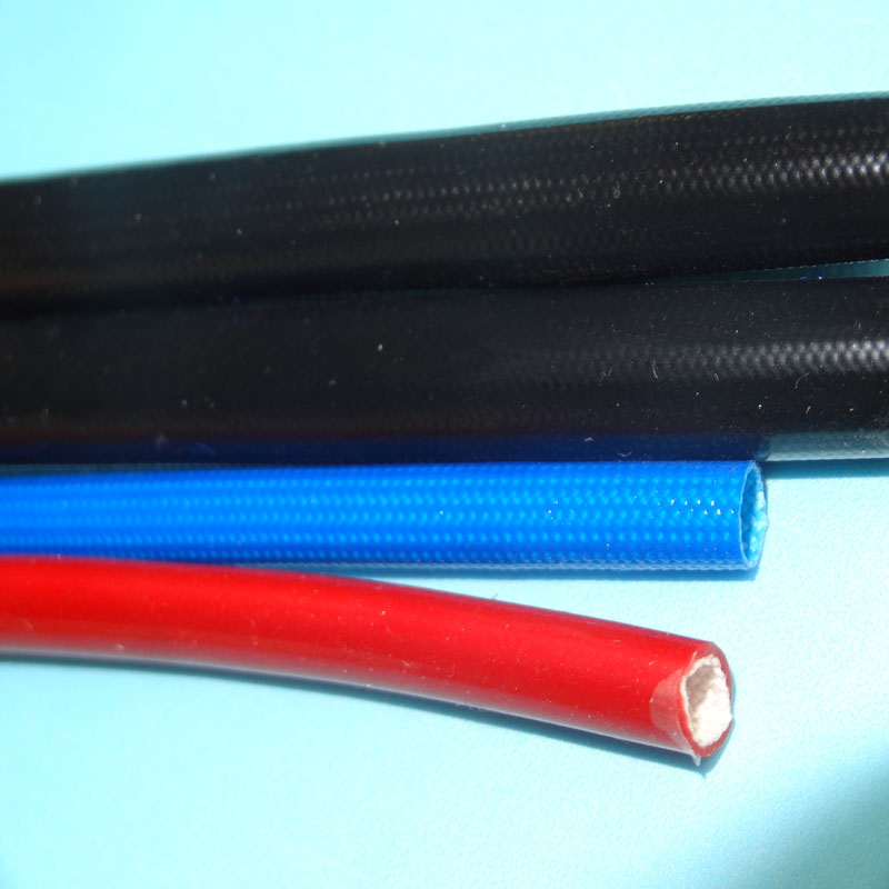 Tinggi Temp Silicone Coated Braided Fiberglass Sleeve
