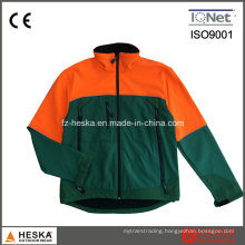 Outdoor Color Stitching Mens Softshell Jacket