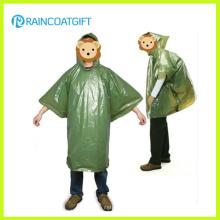 Poncho jetable de pluie PE Giveaway bon marché