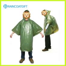 Poncho de lluvia disponible desechable del PE del regalo