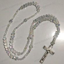 Profissional Fábrica Católica Cristal Facetado Cristal Rosário Cordão Religioso