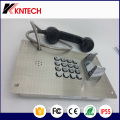 Stainless Steel Metal Button Telephone Knzd-07A Emergency Phone