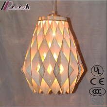 Hot Sales Wood Hollow out Ceing Lamp Lighting with Restaurant