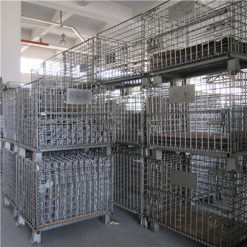 Stackable storage baskets for bulk materials