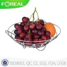 Europa Design Metal Chromed Fruit Basket