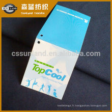 Tissu 100 mailles en polyester 75D Coolpass Dry Fit en tissu à œillet
