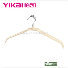 Dry cleaning thick PVC metal shirt clothes hanger without bar in natural color
