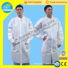 CE Certificated Disposable Nonwoven Lab Coat, SBPP Lab Coat