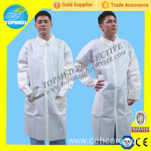 CE Certificated Disposable Nonwoven Lab Coat, SBPP Lab Coat