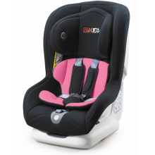 Child car seats with blue grey covers