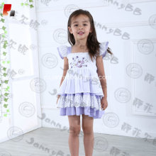 High quality lavender embroidered toddler outfits