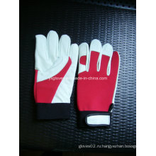 Белая кожаная перчатка-корова-перчатка-перчатка-безопасная перчатка-защищенная перчатка