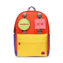 Detachable small bags 90s Kids Color Block Backpack With Bright color backpacks
