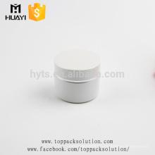 pots de crème pour le visage cosmétiques en gros verre blanc