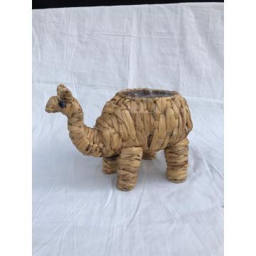 Pot décoratif chameau tissé aux algues