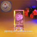 Wholesale Elegant And colorful 3d Laser Crystal Engraving for Gift and home decoration