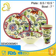 ODM and OEM cutomized vintage style melamine unbreakable dinner set
