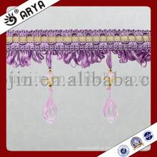 Frangalhão Frisado para Cortina Acessório Home Têxtil Cortina Beads Fringe Acrílico Yarn Curtain Decor