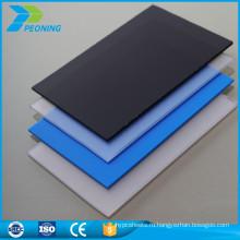 10 мм Твердый плоский поликарбонат УФ-защита пластикового листа