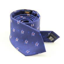 Cravate classique à pois blancs pour hommes