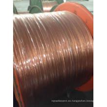 Alambre de aluminio recubierto de cobre trenzado / Cable CCA
