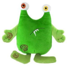 2015 Green monster cat plush toy