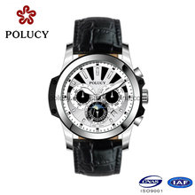 China Manufacturers OEM Chronograph Men Leather Watches