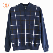 Men Double Layer Keep Warm Knitted Sweater