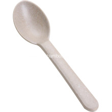 Antibacterial bamboo baby meal spoon