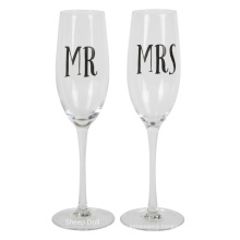 Bride & Groom Champagne Flutes - Elegant Wedding Toast Glass Set For Couples