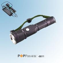 Classic Hidden USB Design CREE Xm-L T6 USB Power Bank Flashlight Poppas-6611