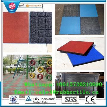 Shock Resistant Kindergarten Rubber Mat, Colorful Rubber Paver