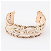 Wholesale fashion metal cuff bracelet gold plated bangle 2 colors