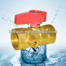 brass gas ball valves with drain (female thread) CSA UL