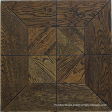 Brown interior parquet laminate wood flooring
